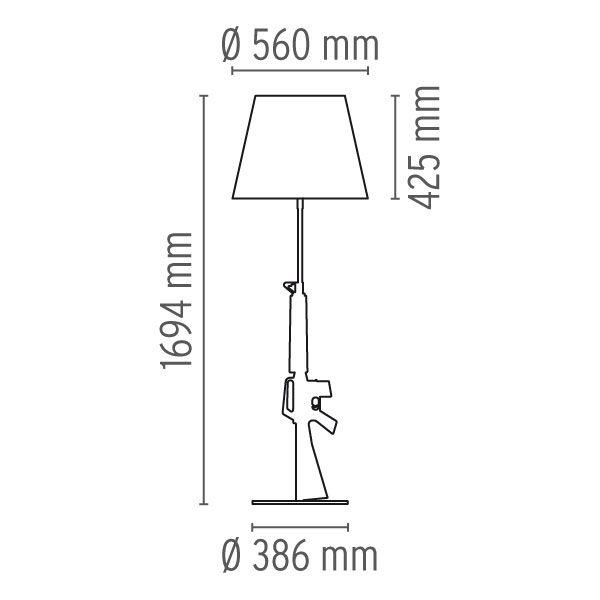 Guns Floor Lamp by Flos