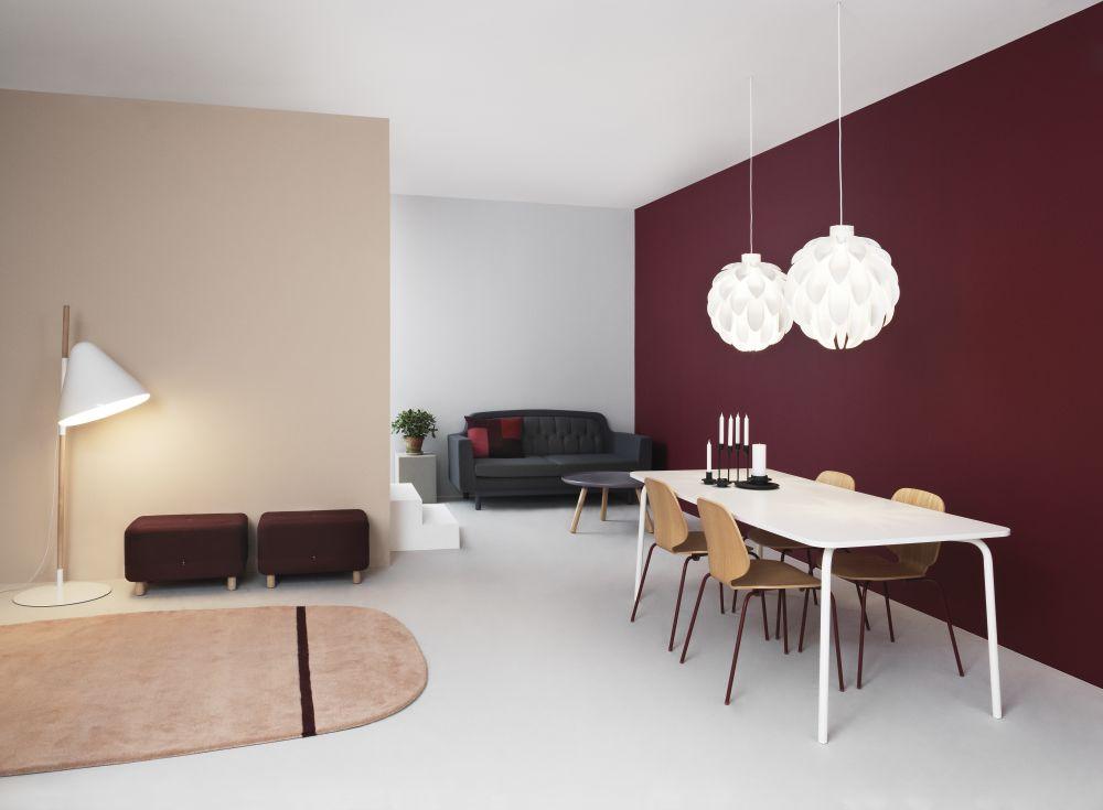 Hello Floor Lamp White by Jonas Wagell for Normann Copenhagen