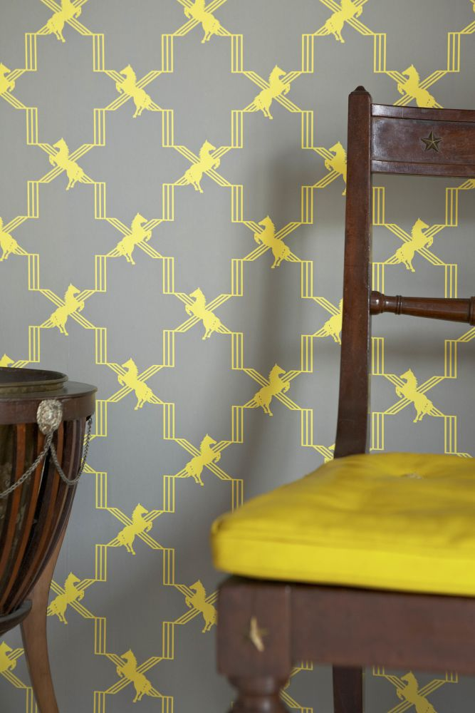 Horse Trellis Wallpaper by Barneby Gates