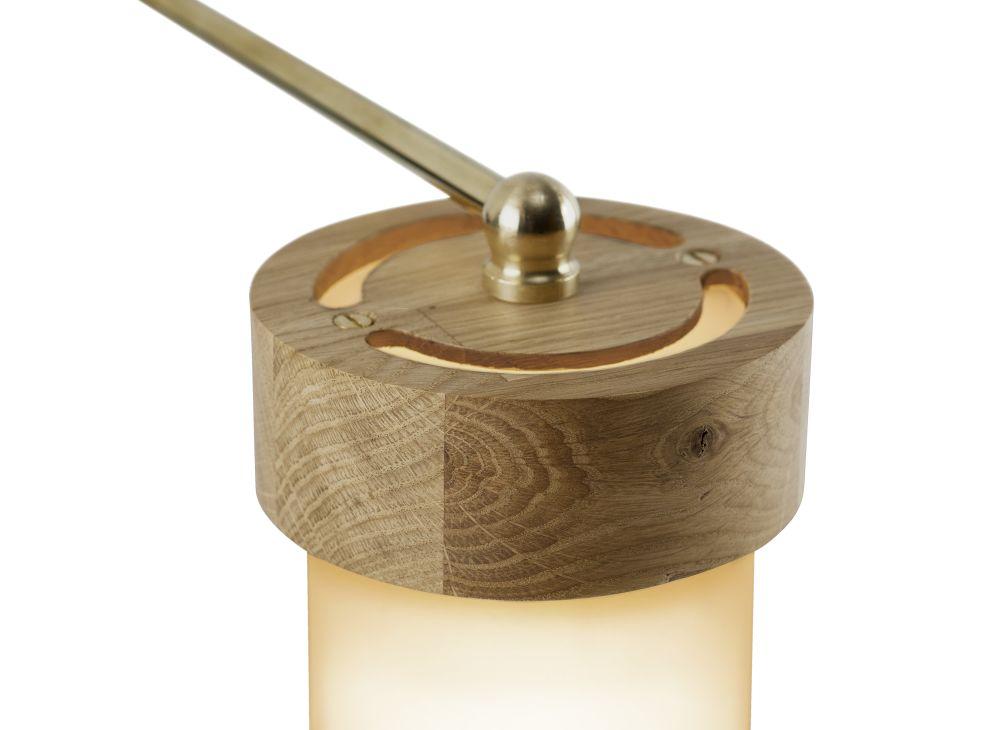 Oak with Brass Jojo Club Lamp