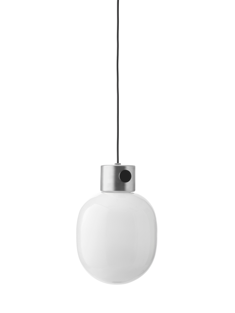 Jwda metallic pendant light brushed steel by jonas wagell for menu