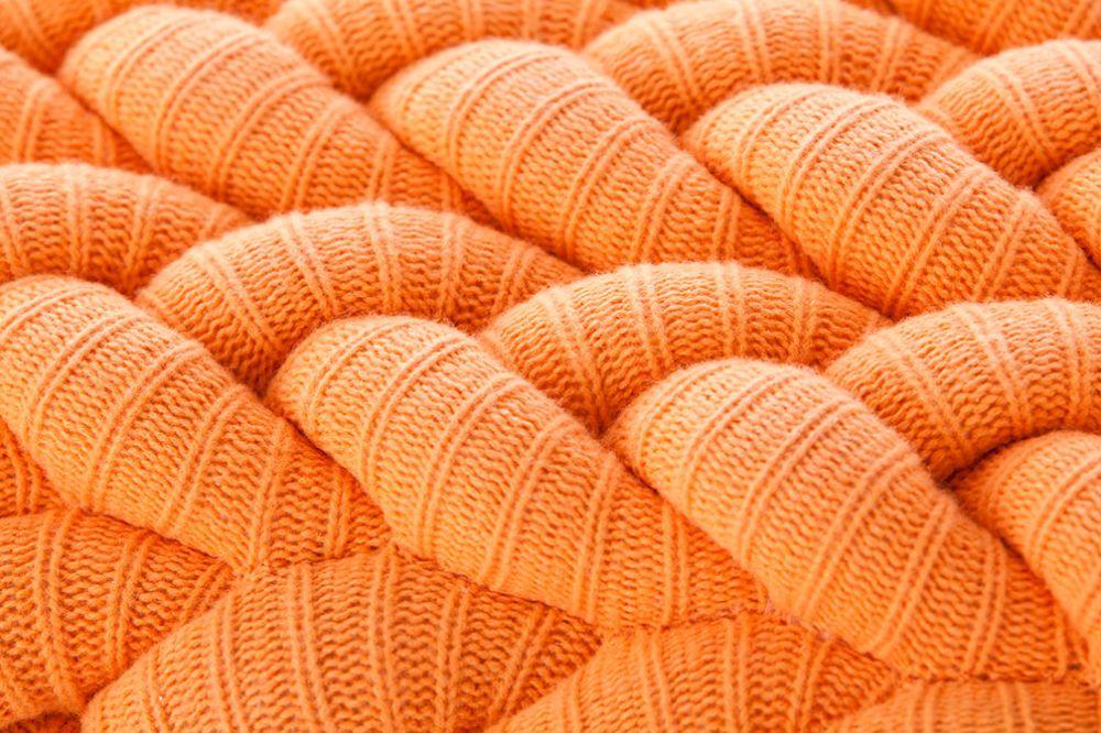 Marvelous Knitted Stool Orange