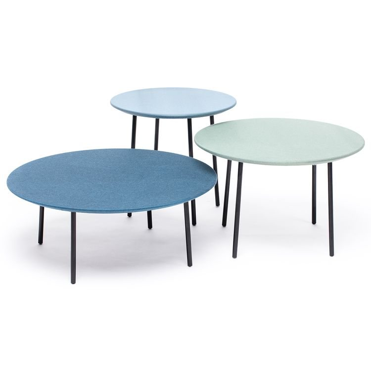 Lago fabric set of 3 tables by Another Brand