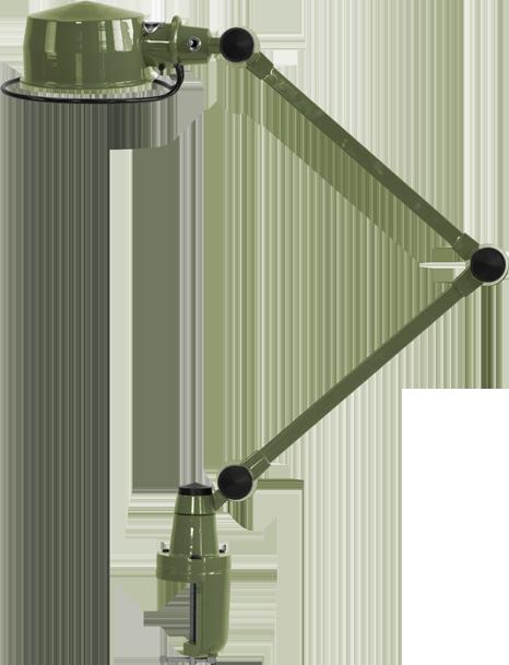 LaK Two Arm Desk Lamp with Desk Support by Jielde