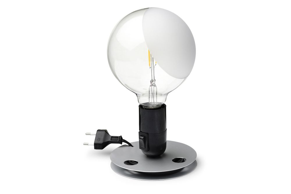 Lampadina Table Lamp Black by Achille Castiglioni for Flos Clippings