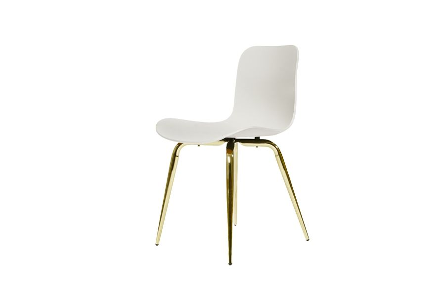 Langue Avantgarde Dining Chair, Brass - Plastic by NORR11