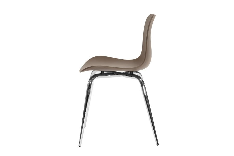 Langue Avantgarde Dining Chair, Chrome by NORR11
