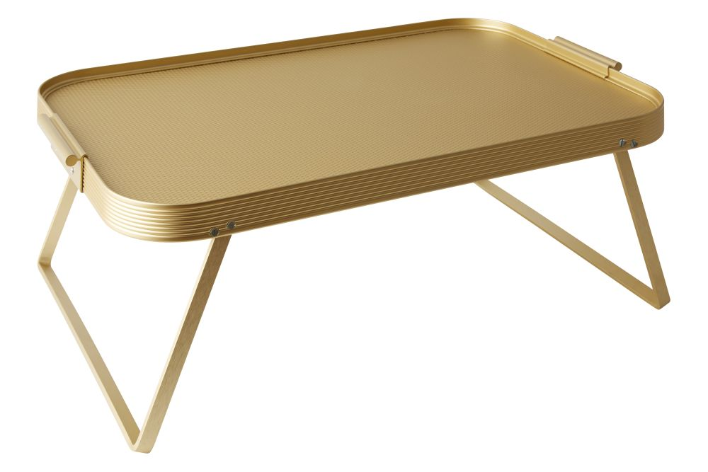 Lap Tray in gold