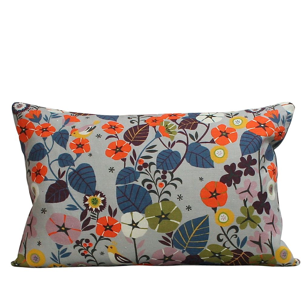 Large Rectangular Cushion in Nasturtium by Winter's Moon