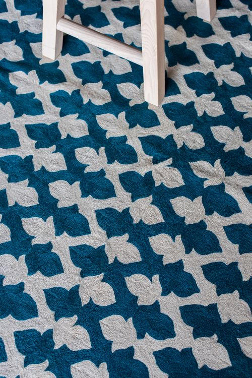 Lattice Crewel Rug by Niki Jones
