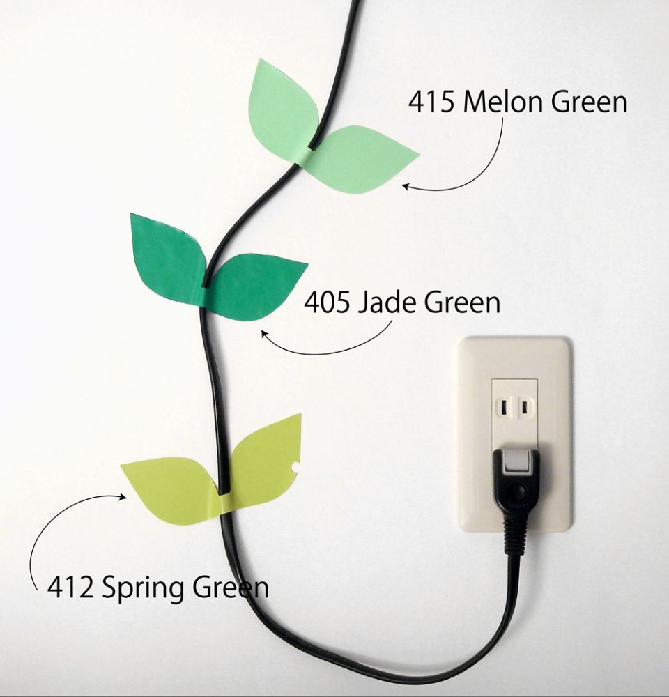 Leaf Cable Stickers by Masako Sato