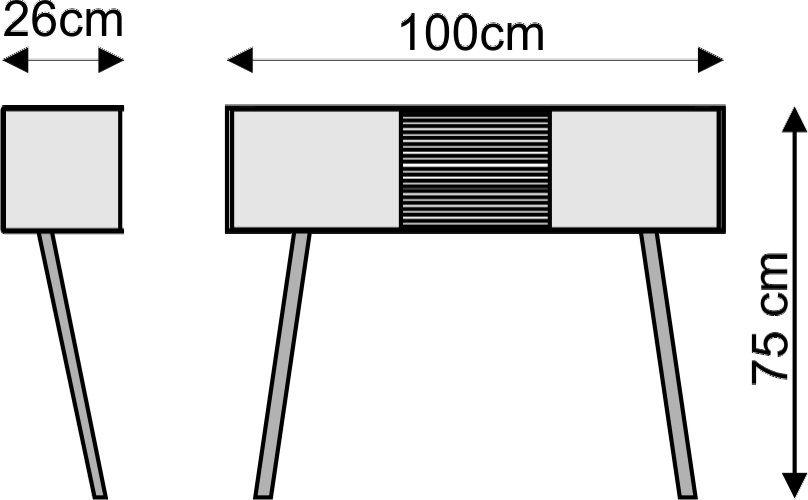 "Leaning sideboard ""Anlehnschrank LS-01 - Slate"""