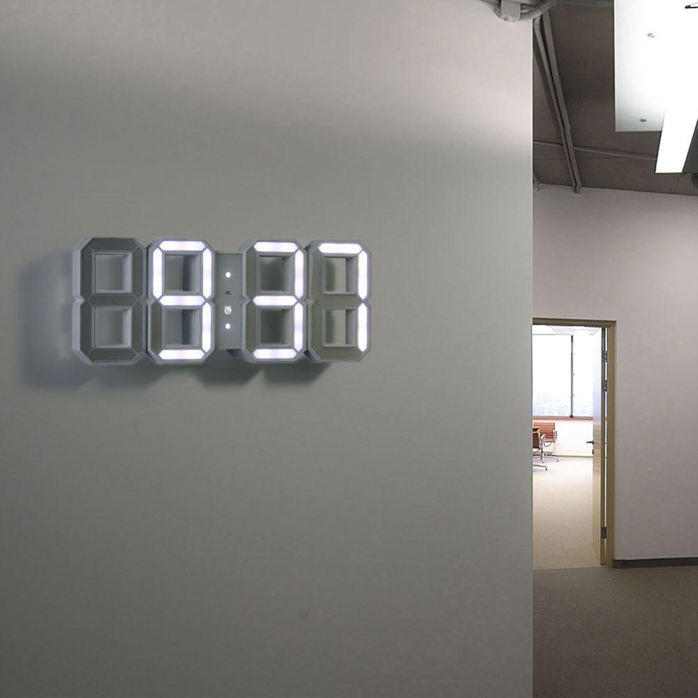 Original kibardin white white digital led clock by kibardindesign a modern 3d interpretation of the traditional digital clock amipublicfo Choice Image
