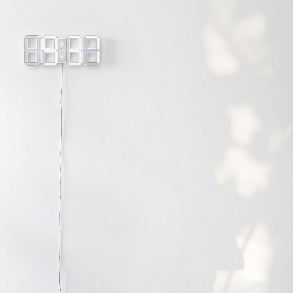 White & White Clock, 10m cordWhite & White Clock