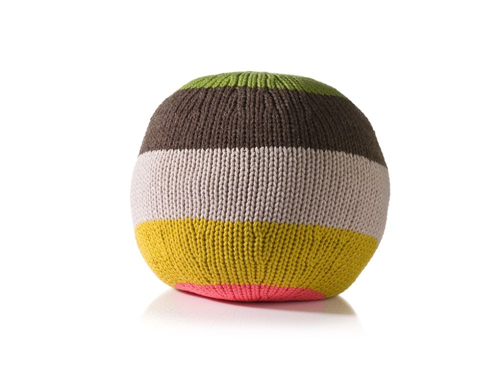 Knitted Ball Cushion in Large Curry by Stine Leth for Korridor
