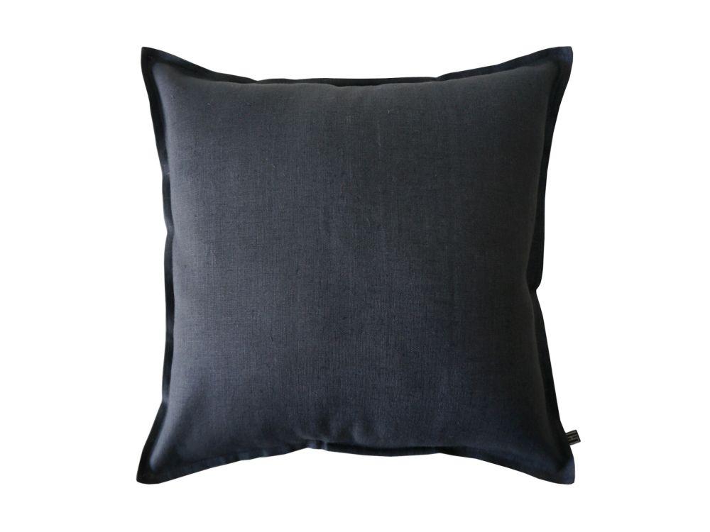charcoal linen cushion