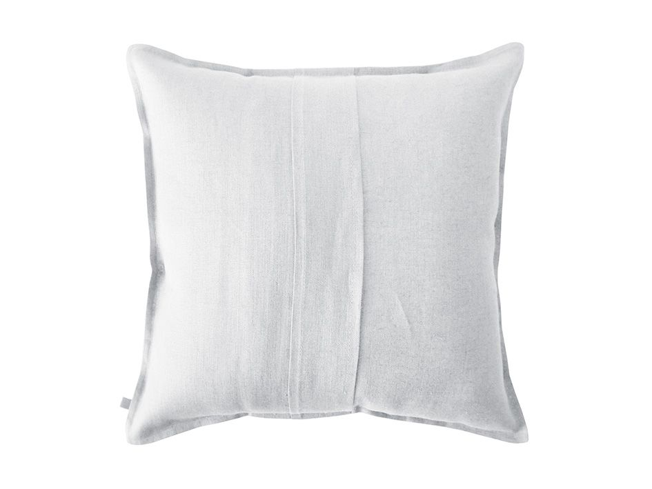 dove grey linen cushion