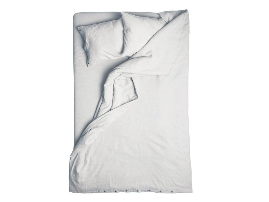 Dove grey linen duvet cover