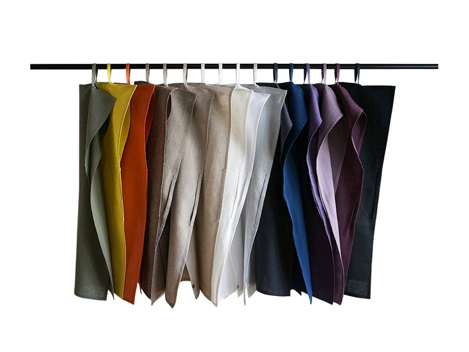 Tea towels made with two loops for easy hanging