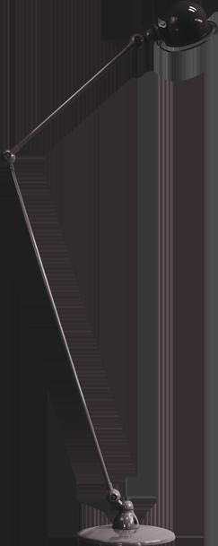 Loft 120/60cm Two Arm Floor Lamp Black, Gloss by Jielde