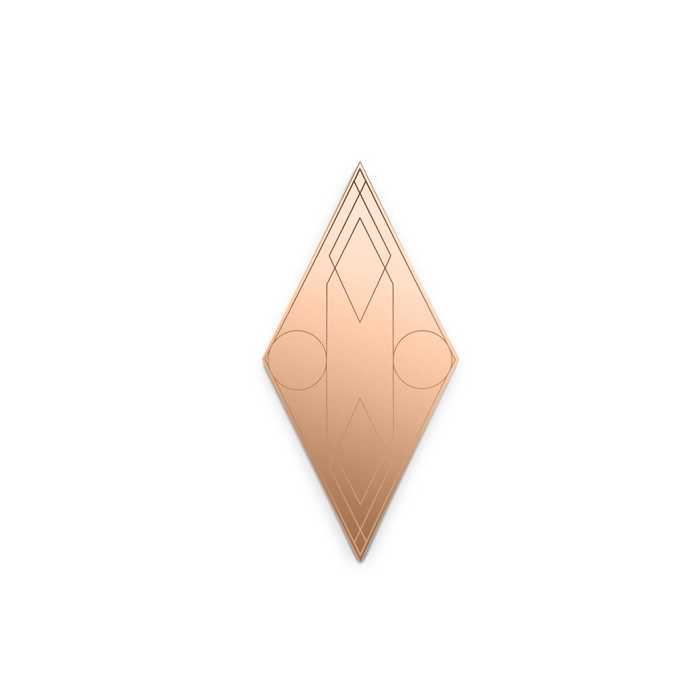 Mask Rhombus Wall Mirror by Petite Friture