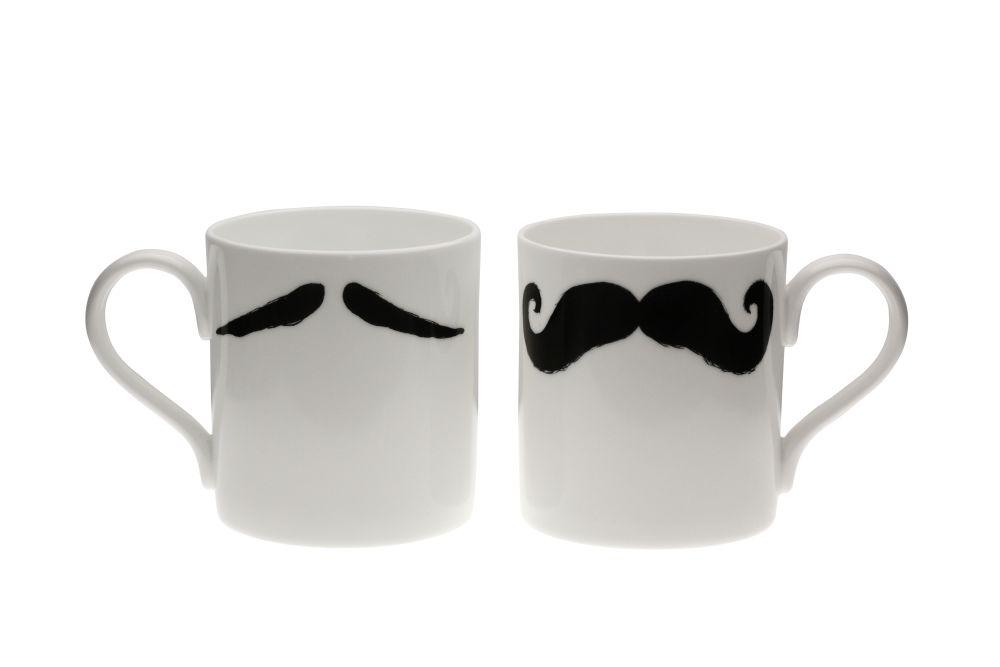 Maurice Poirot Moustache Mug by Peter Ibruegger Studio
