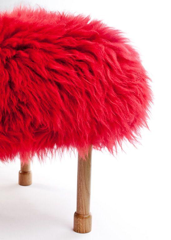 Megan Sheepskin Footstool by Baa Stool