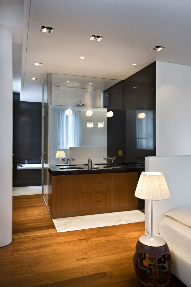 Mini Glo-Ball Ceiling/Wall Light Mirror Mounted by Flos