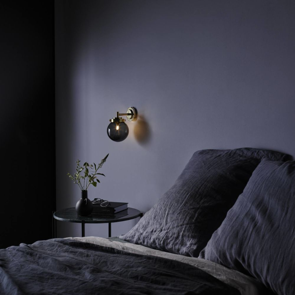 mini globe pendant light. Expanding On Our Globe Pendant Range, This New Mini Wall Light Integrates The Same Art Deco Cues Within Its Metal Fixtures And Features A Compact