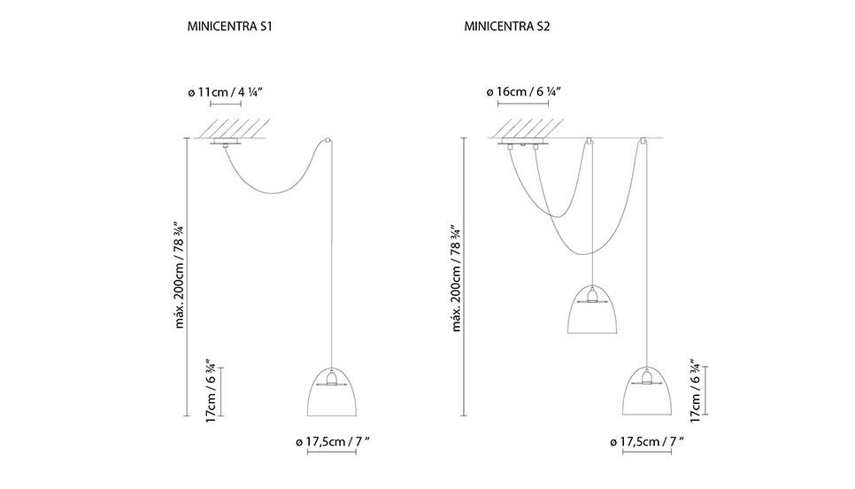 Minicentra S2 Pendant Light by B.LUX
