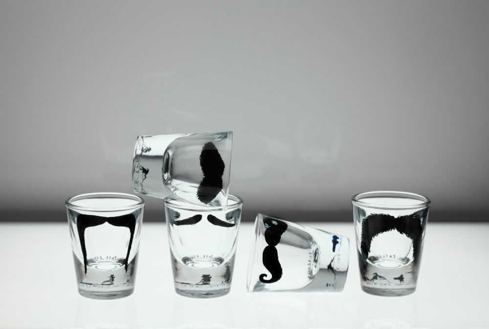 Moustache Shot Glasses by Peter Ibruegger Studio