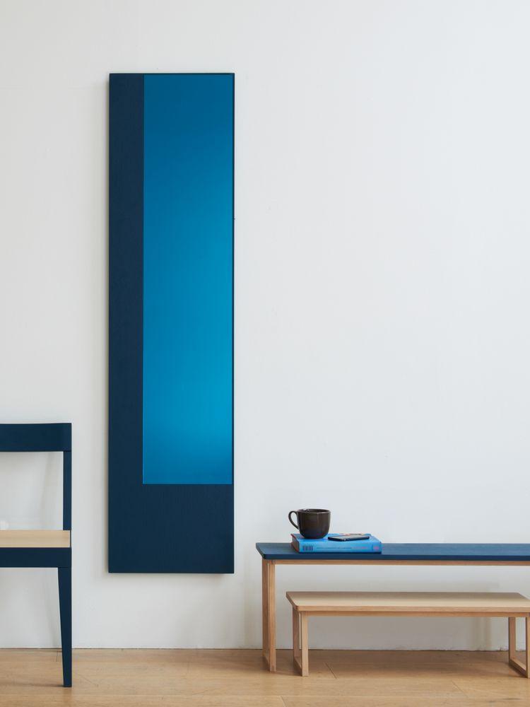 Offset Mirror Long Colour Blue