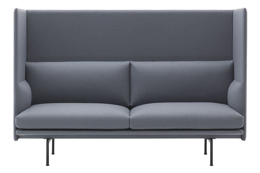 Outline Highback Sofa - 2 Seater by Muuto
