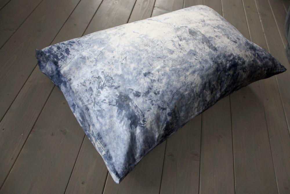 Painted Cushion – Indigo by Vividgrey