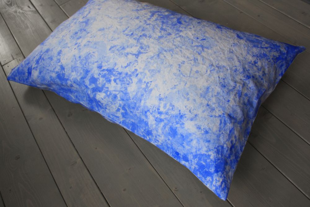 Painted Cushion –Ultramarine by Vividgrey