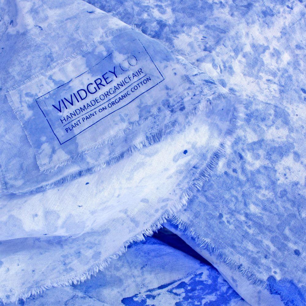Painted Throw – Ultramarine by Vividgrey