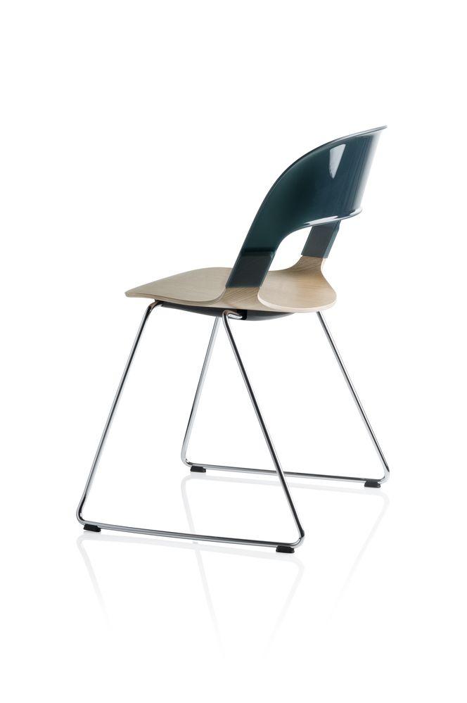 Pair Chair - sled base by Republic of Fritz Hansen