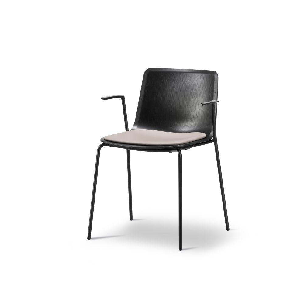 Pato 4 Leg Armchair with Seat Upholstery by Fredericia