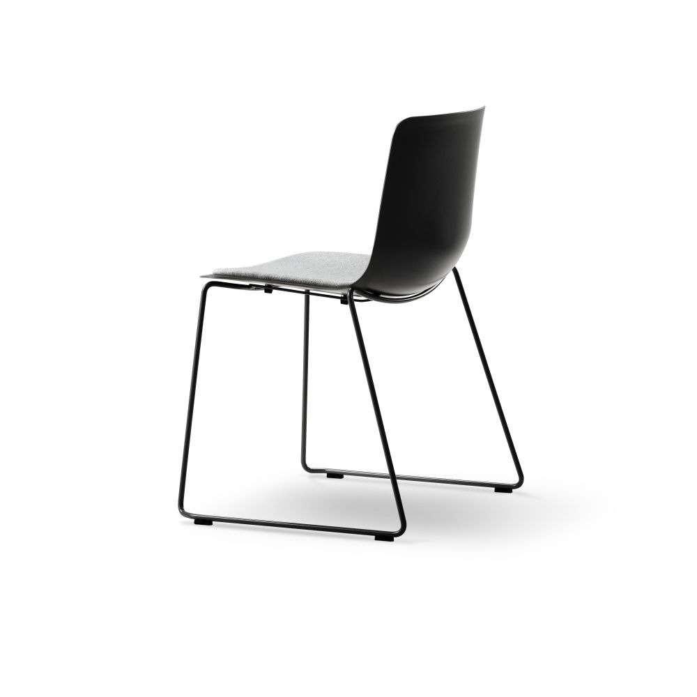 Pato Sledge Chair with Seat Upholstery by Fredericia