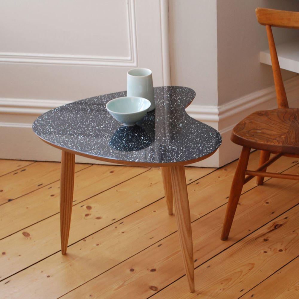 Petal table Sparkled Black