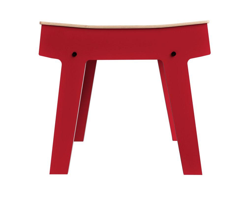 Pi Stool - Cherry Red