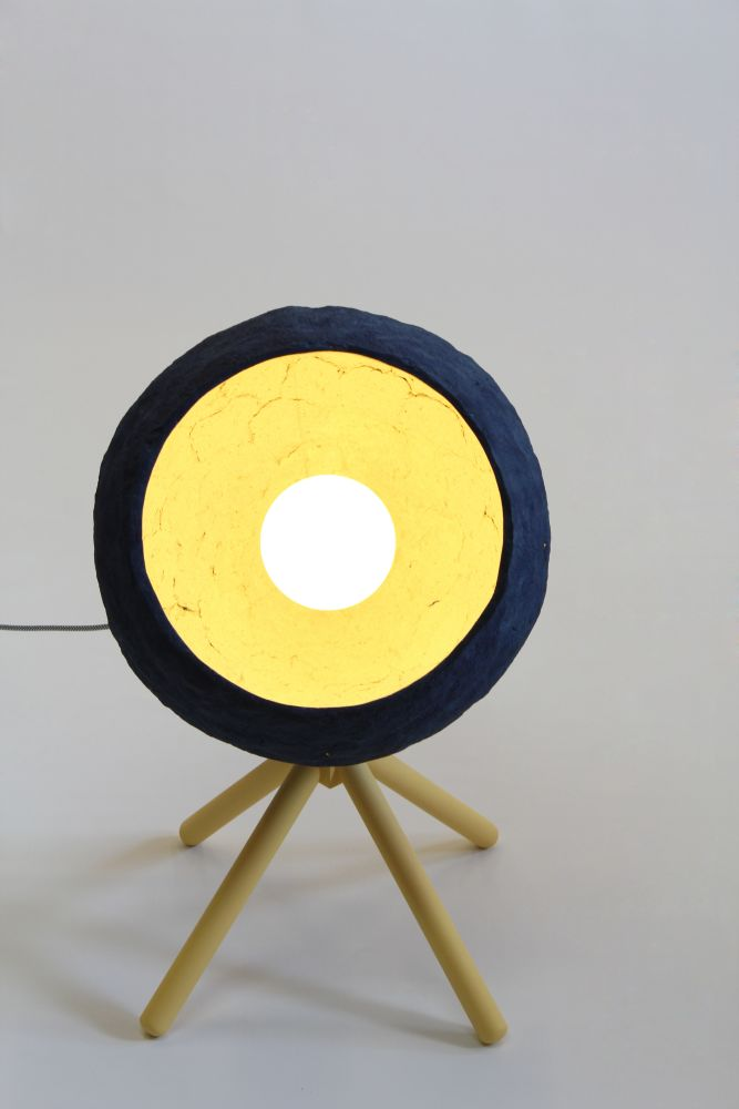 Pluto Paper Pulp Floor Lamp by Crea-Re Studio