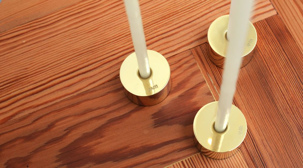 Pure Brass Candle Holders Set by Jam Furniture