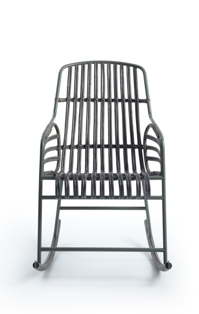 Raphia Armchair, With Rocking Base by Casamania