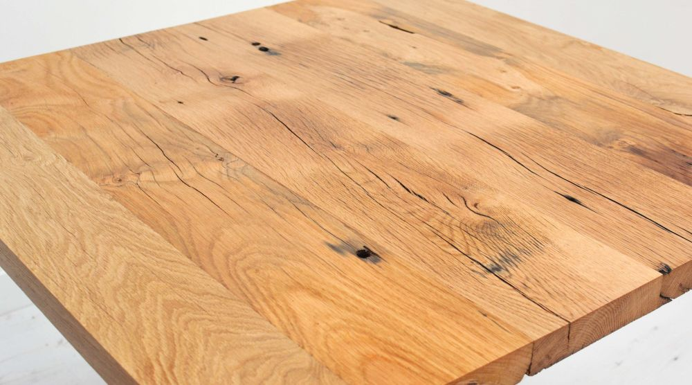 Reclaimed French Oak Cafe Table by Jam Furniture