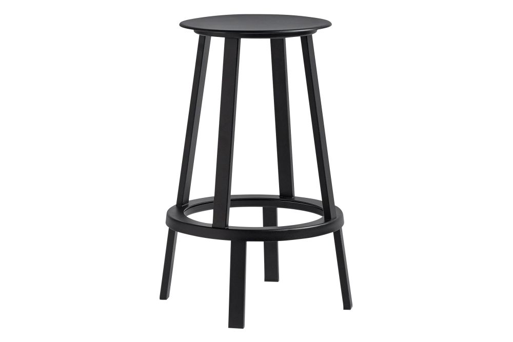 Revolver Bar Stool Grey Low By Leon Ransmeier For Hay