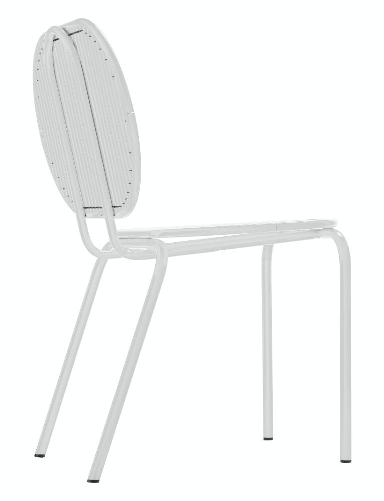 Roll Chair White