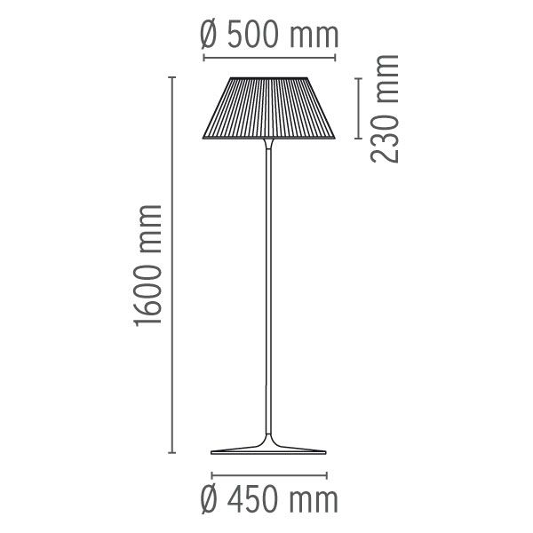 Romeo F Floor Lamp by Flos