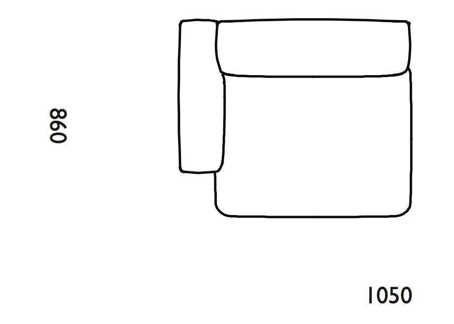 Rope Modular Sofa 100 Narrow Left Armrest by Normann Copenhagen