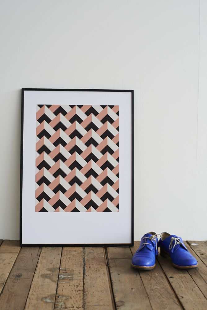Rose Peaks Screen Print by Lane